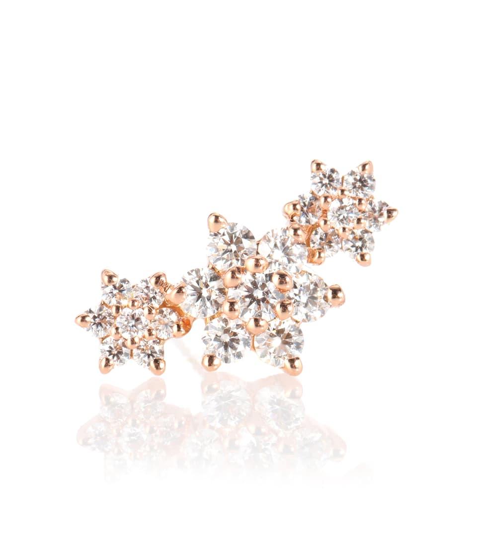 Maria Tash Diamond Flower Garland 18kt gold and diamond earring oWJU0QB
