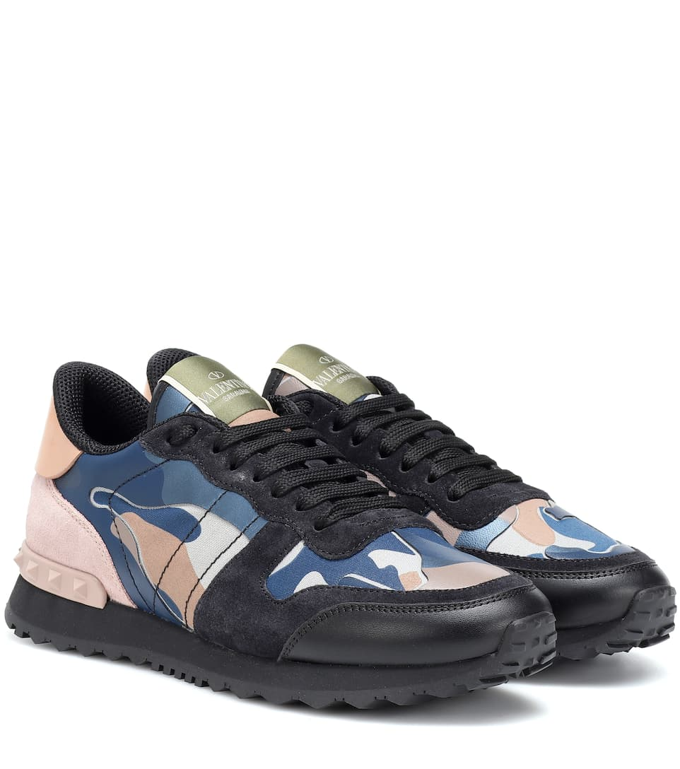 c9f25ae65f76 Valentino. Valentino Garavani Rockrunner camouflage sneakers. USD 895.  Vieira Spikes embellished leather sneakers