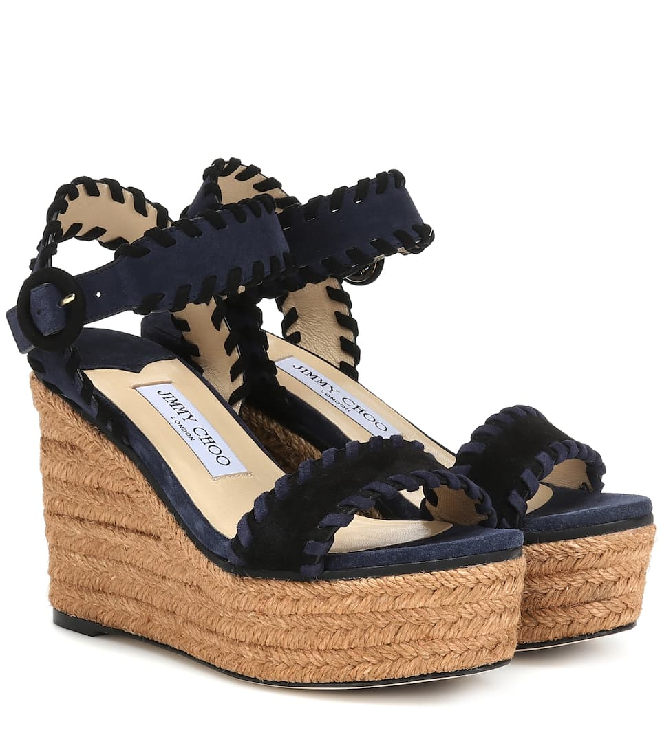 9f004c6cd8 Abigail 100 Suede Wedge Espadrilles - Jimmy Choo | mytheresa