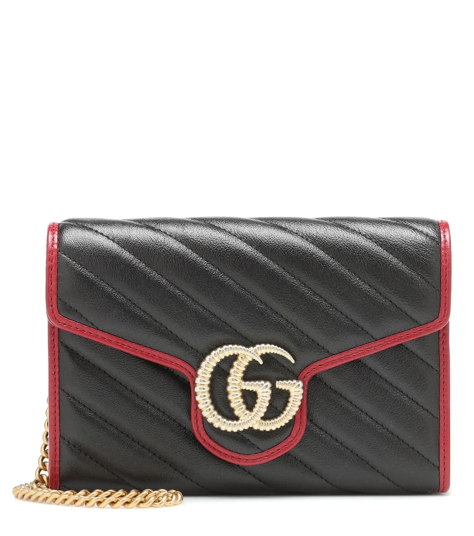 hot-selling fashion 2019 real wide range GG Marmont leather shoulder bag