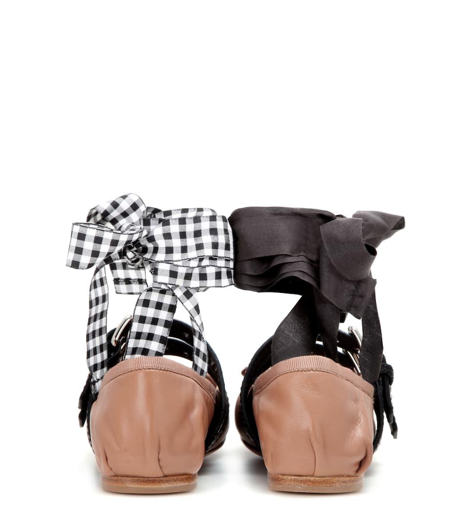 Miu Miu Ballerinas aus Leder