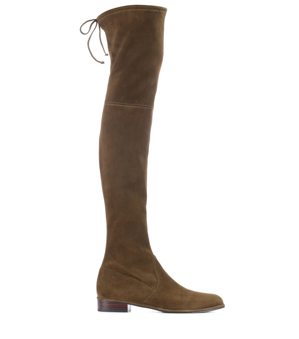 35836ea11 Lowland Suede Over-The-Knee Boots - Stuart Weitzman | mytheresa.com