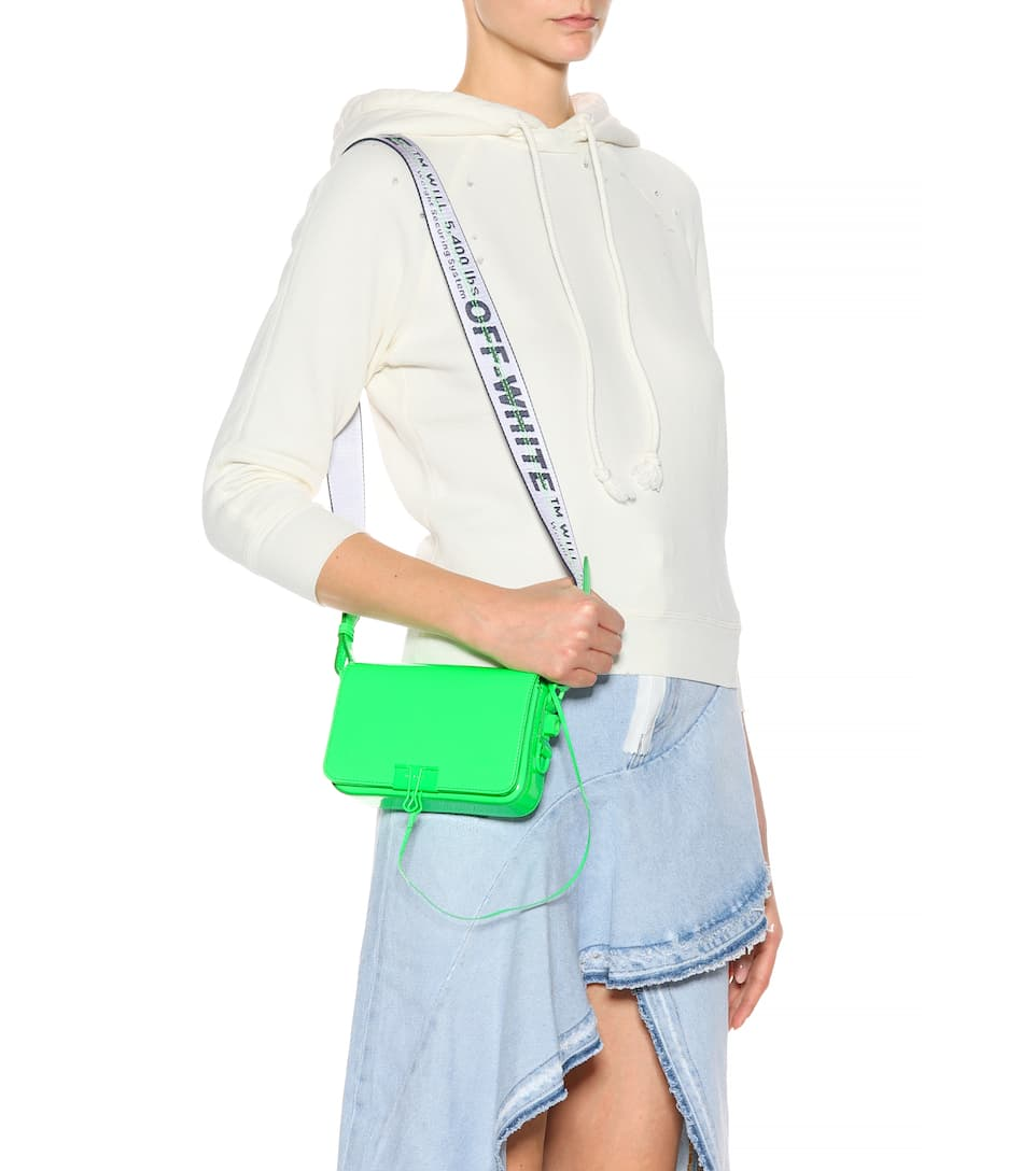 Buy Best Off-White Mini Binder Clip patent shoulder bag Green No C Buy Cheap Official Cheap Sale Wholesale Price Choice Online Clearance Cheap Price eFMU5
