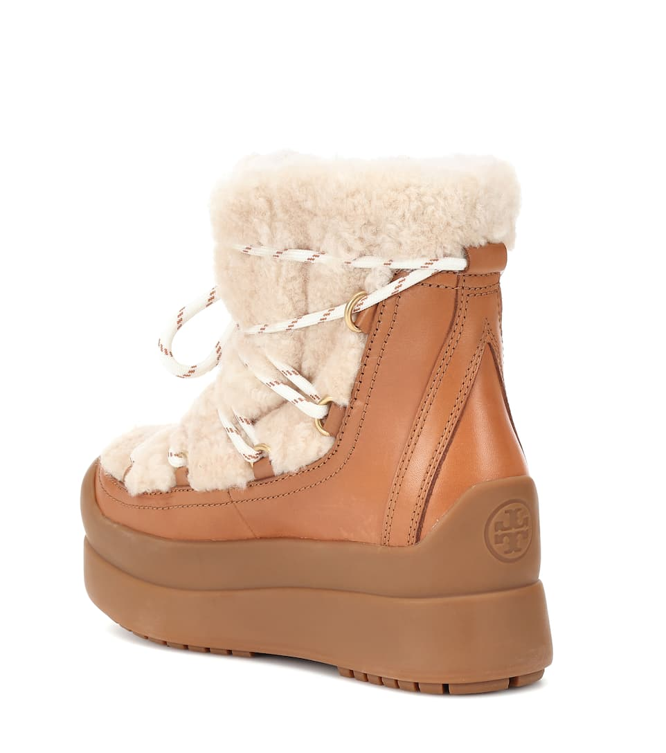acb942e89 Tory Burch - Courtney 60mm shearling ankle boots