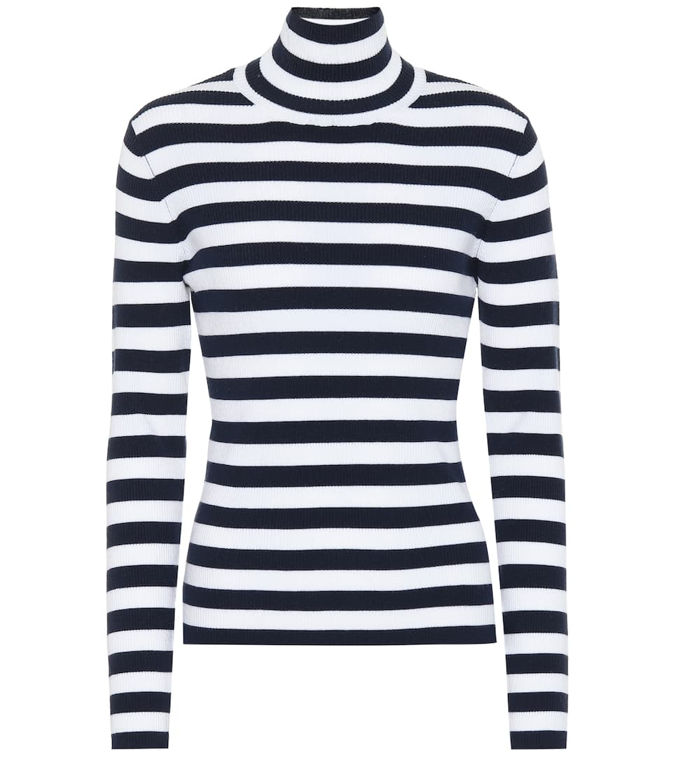 Striped Wool Turtleneck Sweater by Tory Sport