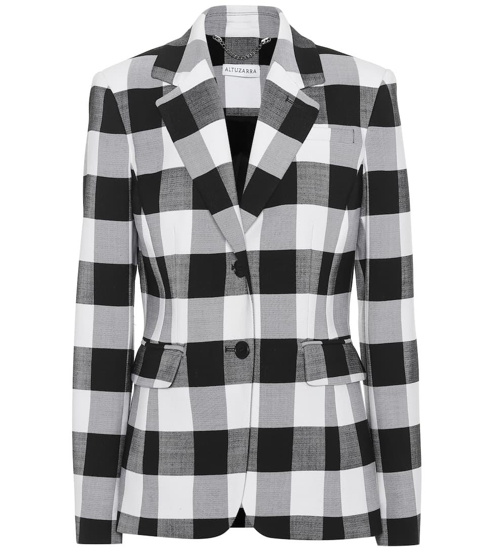 Fenice Gingham Wool Blend Blazer by Altuzarra