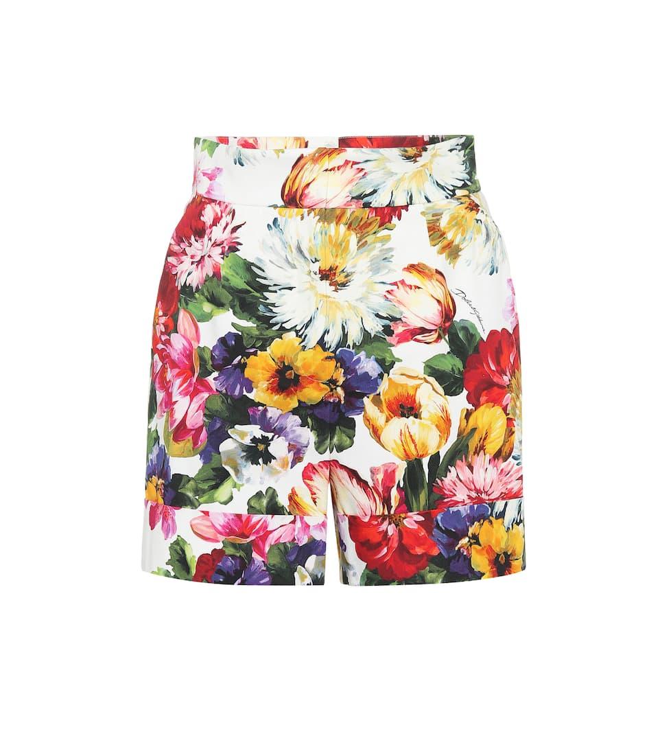5232c10b6d389 Floral Stretch Cotton Shorts - Dolce & Gabbana | mytheresa