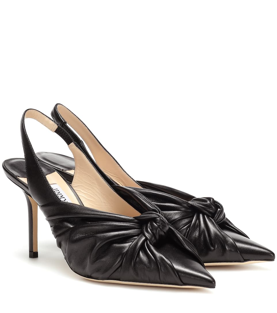 504a38791f5 Jimmy Choo - Annabell 85 leather slingback pumps | Mytheresa