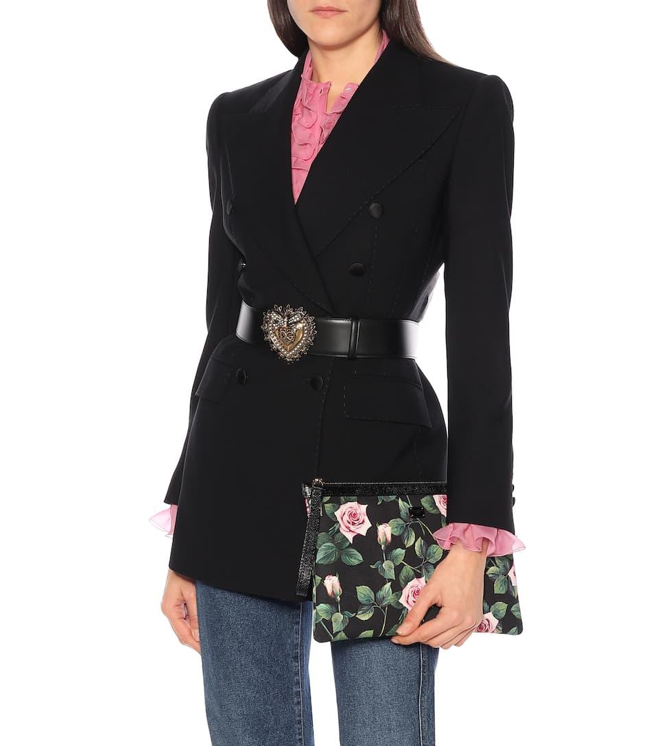 Floral Canvas Pouch - Dolce & Gabbana Big Discount
