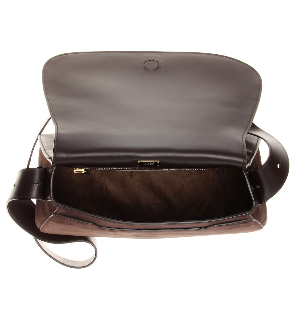 Tom Ford Schultertasche Jennifer Soft aus Veloursleder