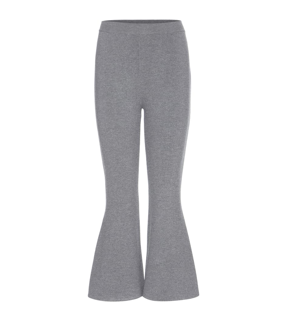 Stella McCartney Cropped Flared-Hose aus Wollgemisch