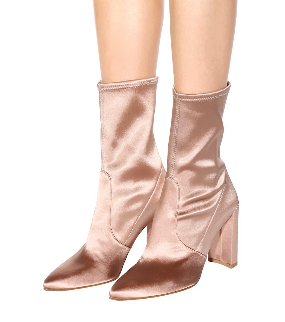 Stuart Weitzman Clinger satin boots Order Cheap Online mF8Nr1Y