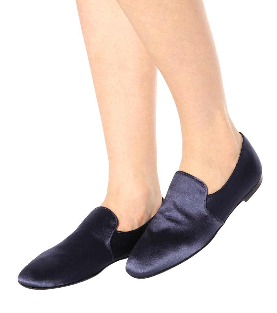 The Row Slippers Alys aus Satin