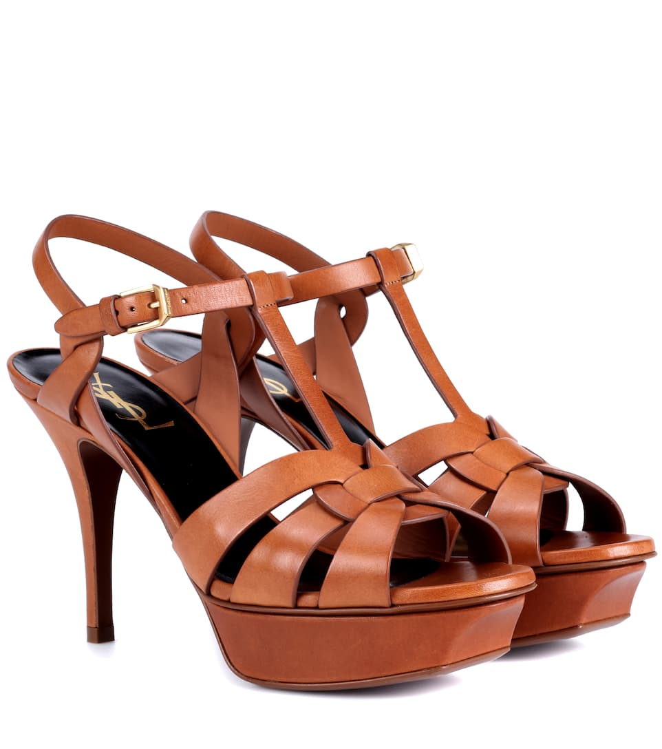 Saint Laurent Sandals Tribute 75 Of Leather