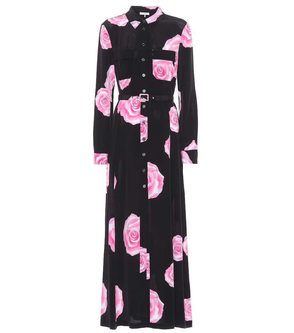 Ganni Silk Floral Dress