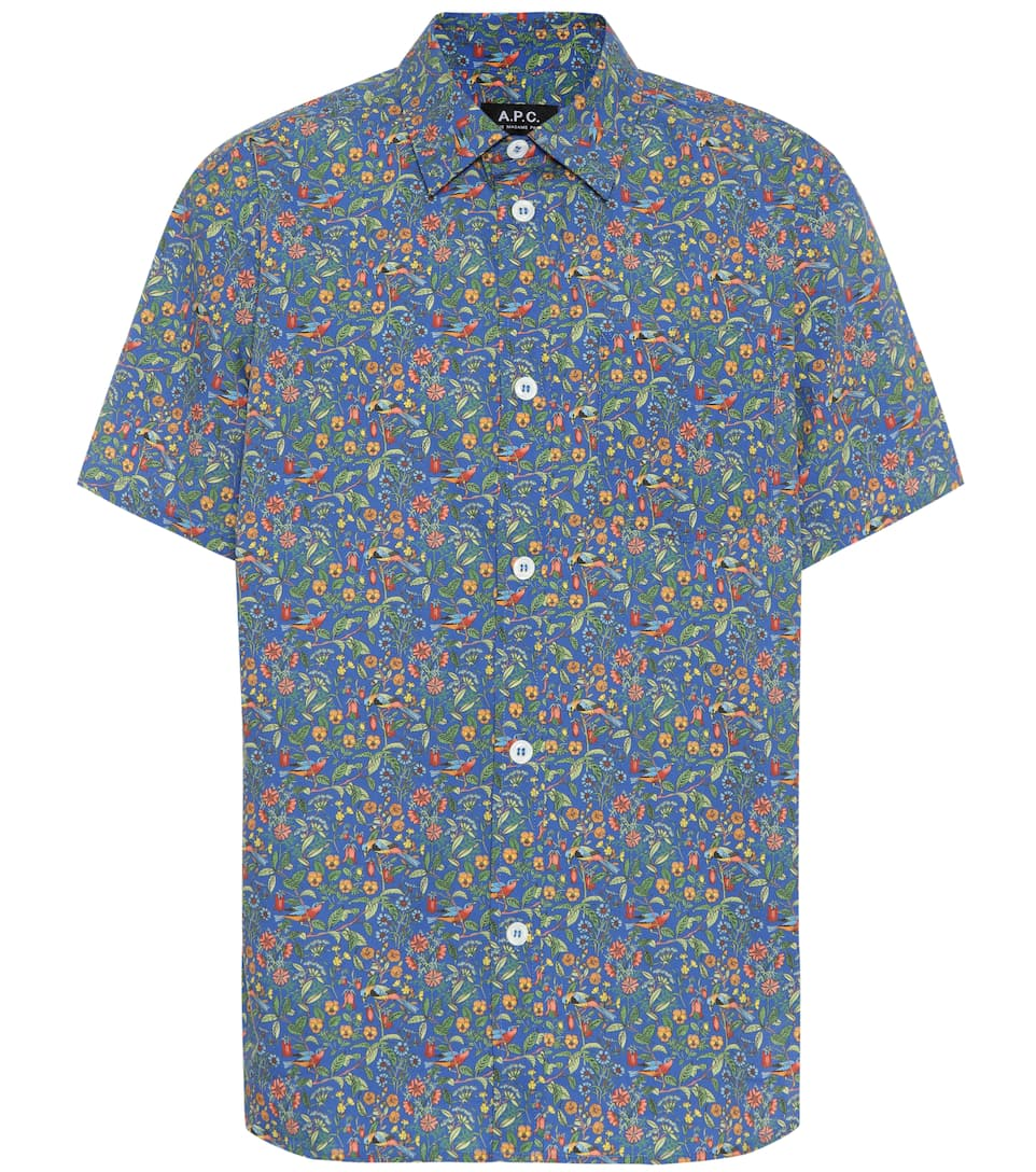 A.p.c. Cottons FLORAL COTTON SHIRT