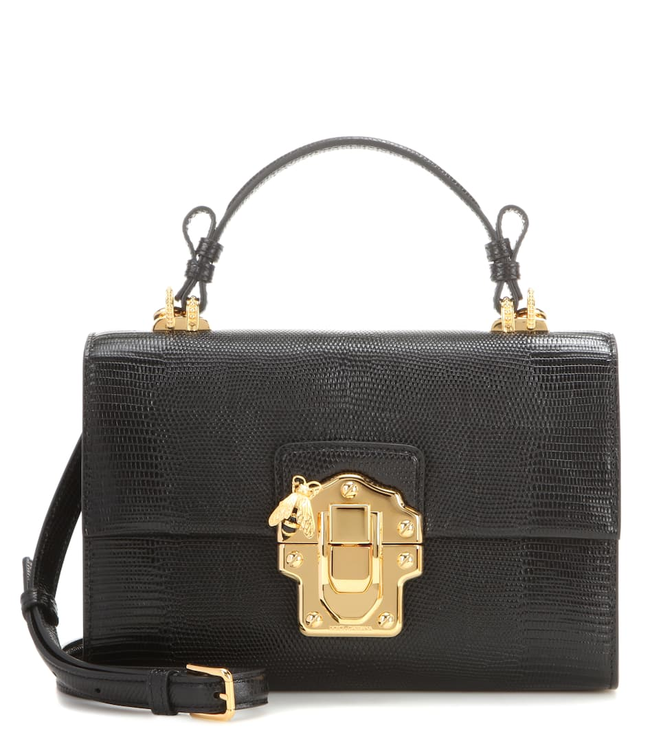Dolce & Gabbana Lucia Topendo East West embossed leather shoulder bag
