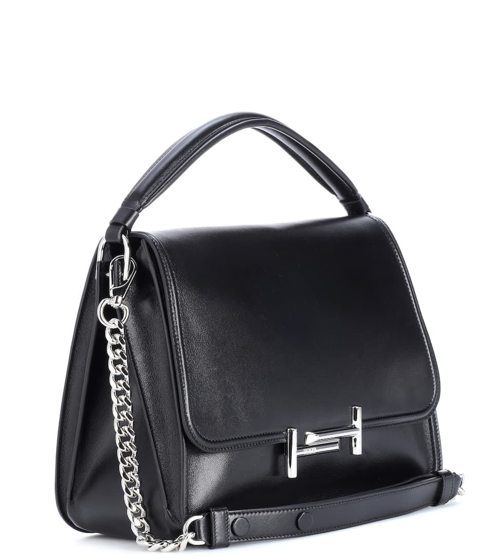Clearance Explore Free Shipping Find Great Tod's Double T leather crossbody bag Black Geniue Stockist For Sale Clearance Inexpensive Supply Cheap Online YiDdGh