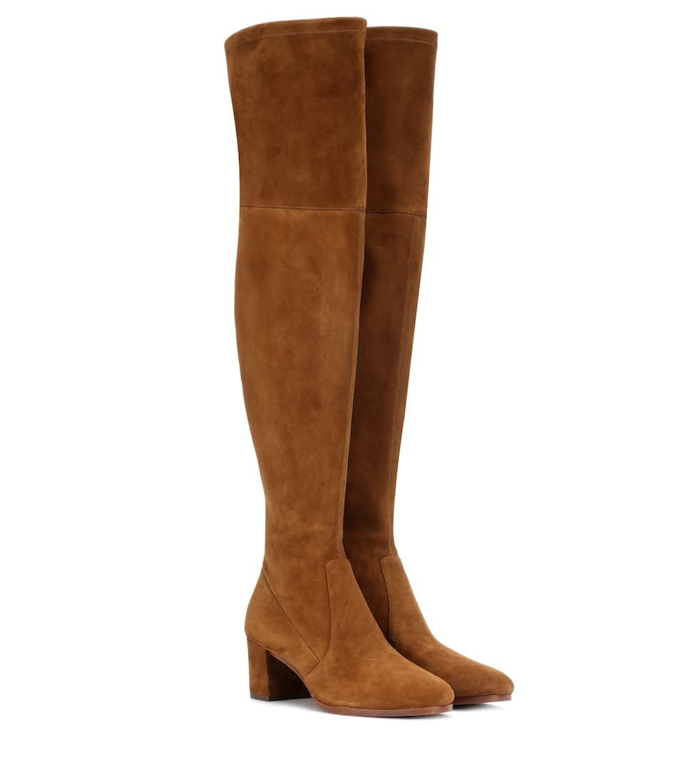 MICHAELA SUEDE OVER-THE-KNEE BOOTS
