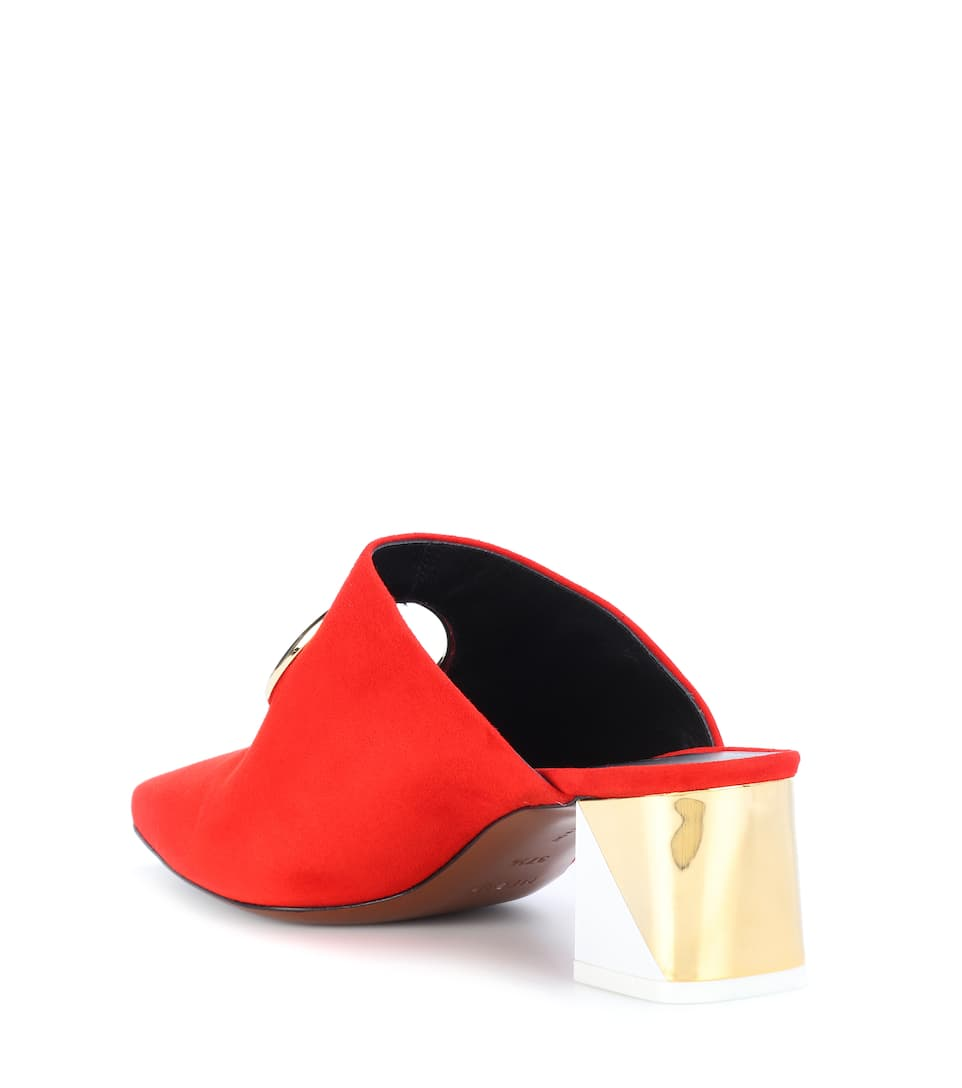 Footlocker Pictures Cheap Online Neous Pleione suede mules Red/Gold/White Cheap Free Shipping Free Shipping Countdown Package DDtsFWP7D