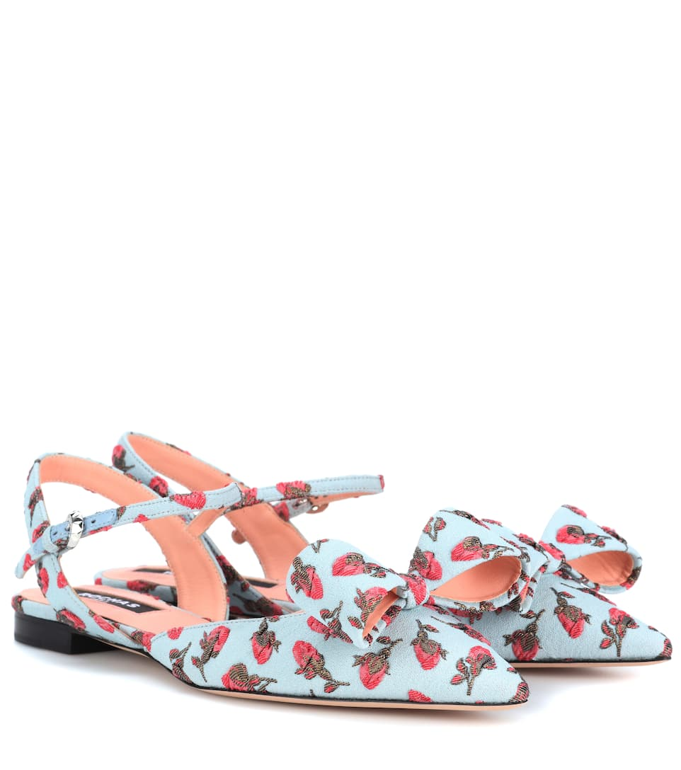 Rochas Ballerinas From Brocade With Bow