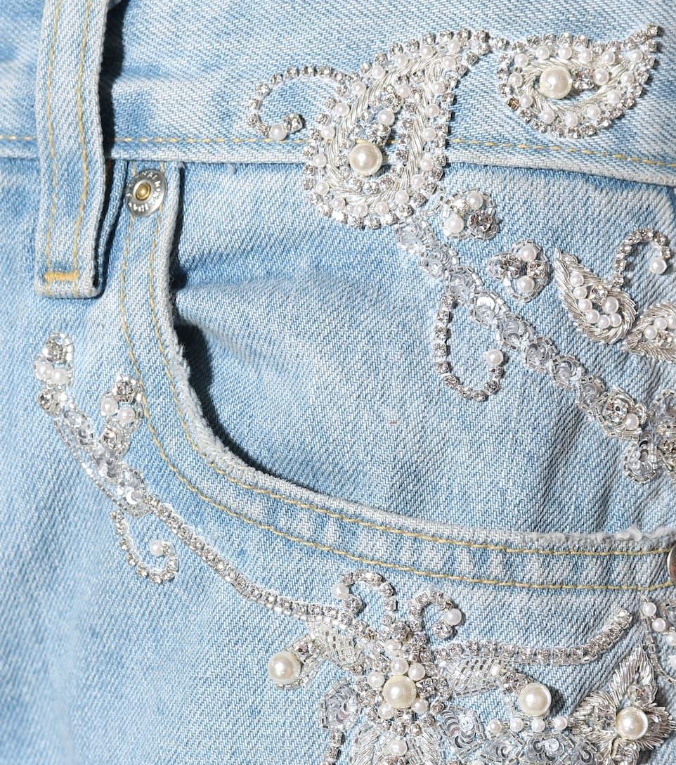 Jonathan Simkhai Verzierte Jeans Diamond aus Baumwolle