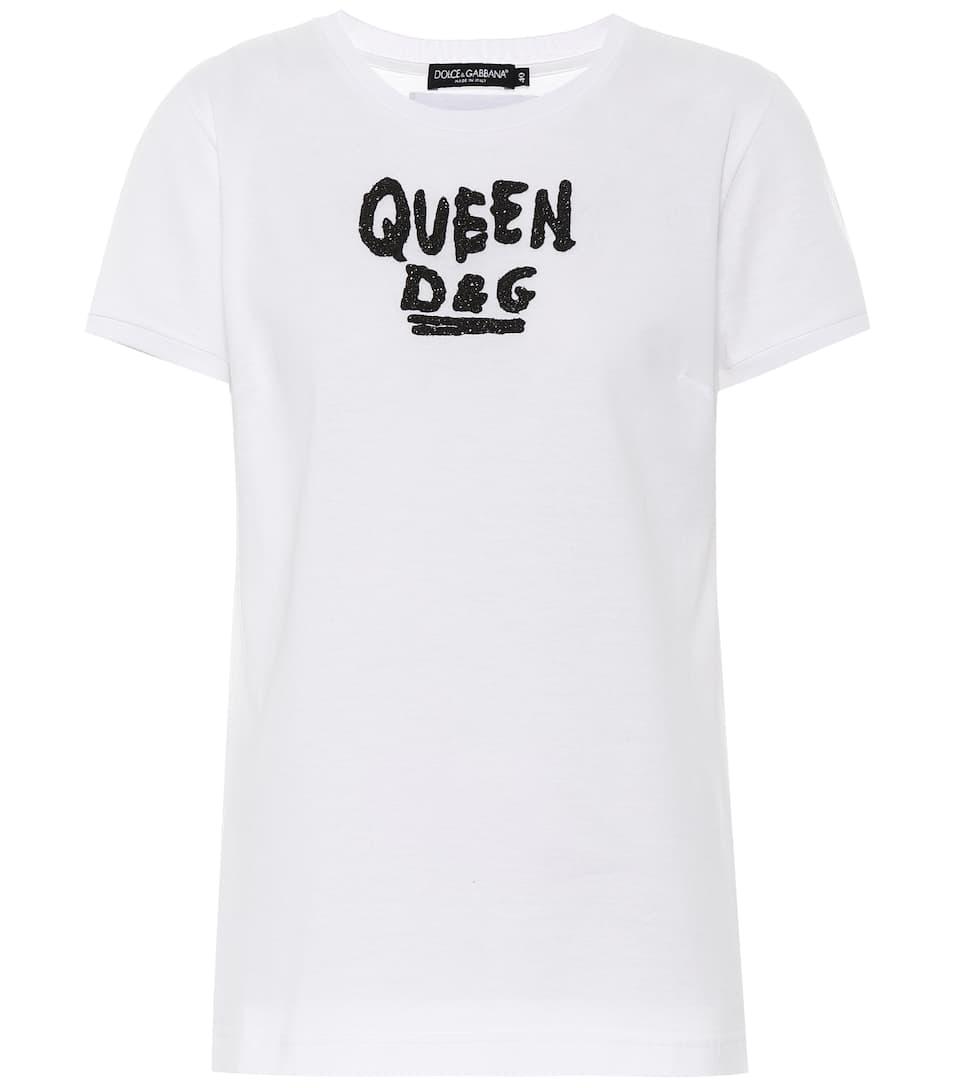 Dolce & Gabbana Bedrucktes T-Shirt aus Baumwolle