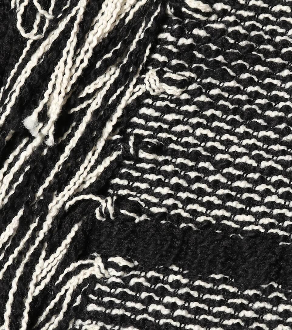 Chloé Cropped Jacke aus Tweed mit Fransen