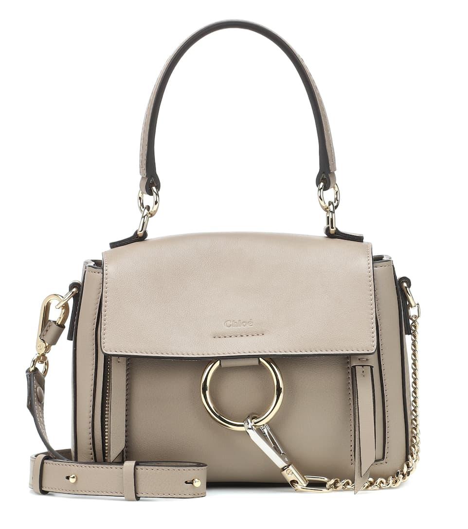 3bbda00f88 Mini Faye Day Leather Shoulder Bag - Chloé | mytheresa.com