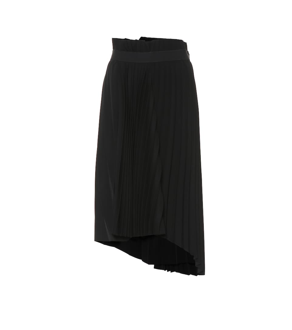 Asymmetric Pleated Midi Skirt by Balenciaga