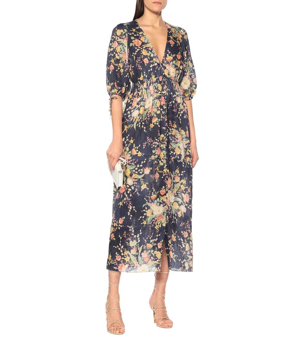 Zimmermann - Zinnia floral linen dress