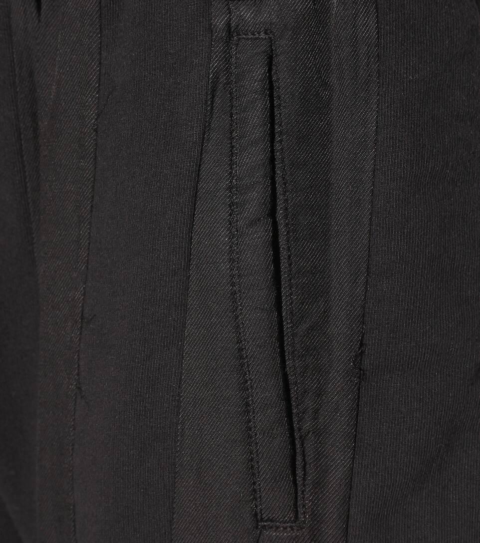 HAIDER ACKERMANN Raw Cuff Dropped Crotch Jogging Pants in Llack
