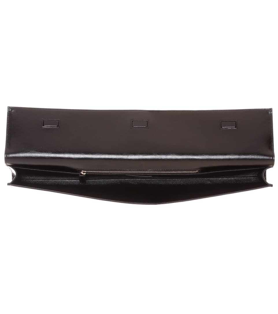 Saint Laurent Clutch Fetiche aus Leder