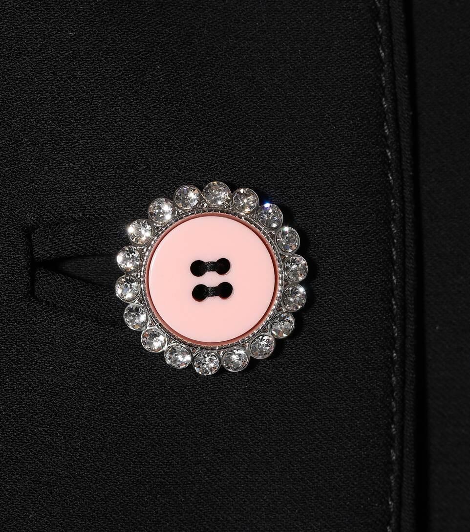 Miu Miu Verzierte Jacke aus Cady mit Kristallen