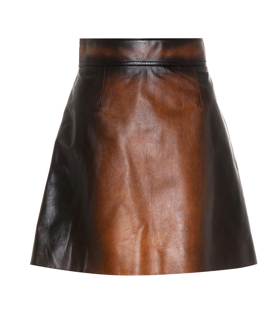 Qualität Frei Versandstelle Billig Verkauf Offizielle Seite Miu Miu Minirock aus Leder Verkauf 100% Authentisch amB0OKlhJ