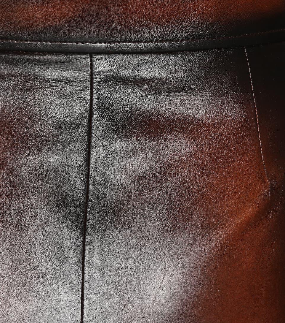 Verkauf 100% Authentisch Miu Miu Minirock aus Leder Billig Verkauf Offizielle Seite Billig Gutes Verkauf Spielraum Online Bester Ort Zu Kaufen 8R8mB0qOmH