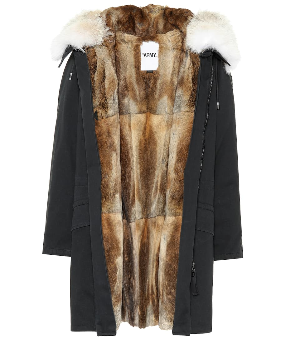 fur-trimmed-cotton-parka by yves-salomon---army