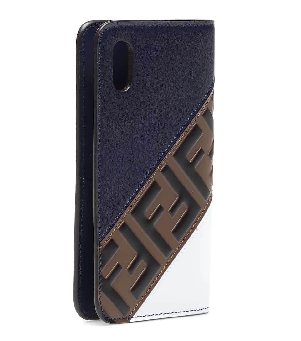low priced 075c6 579ef FENDI MANIA leather iPhone X case