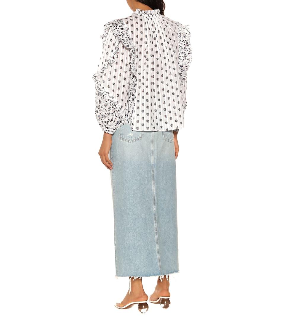 05dd3eb39e0 Ulla Johnson - Kati printed cotton blouse