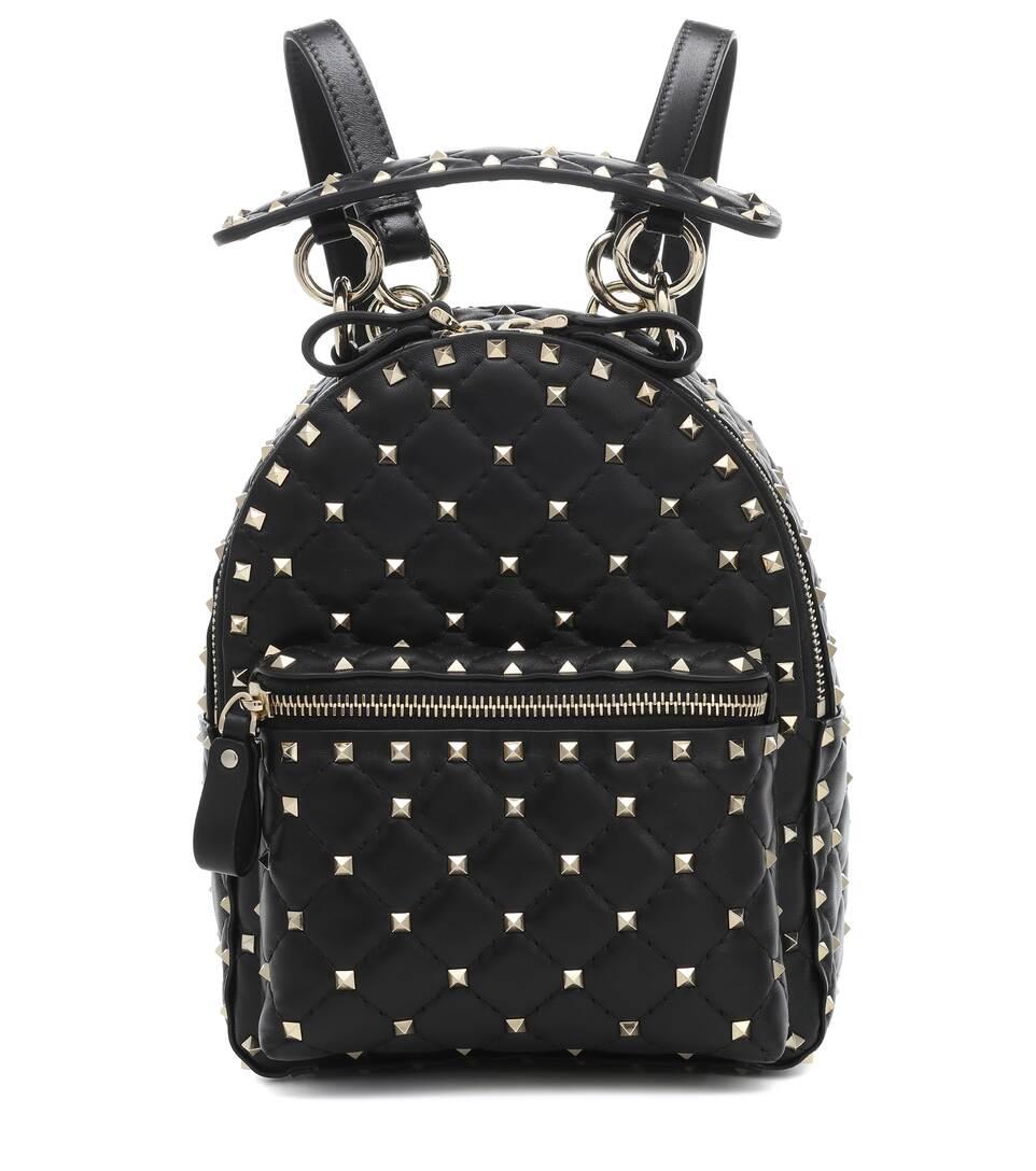 feb854e7d5 Valentino Garavani Rockstud Spike Mini Leather Backpack | Mytheresa