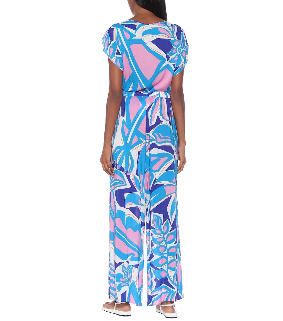 Emilio Pucci Beach - Printed wide-leg pants