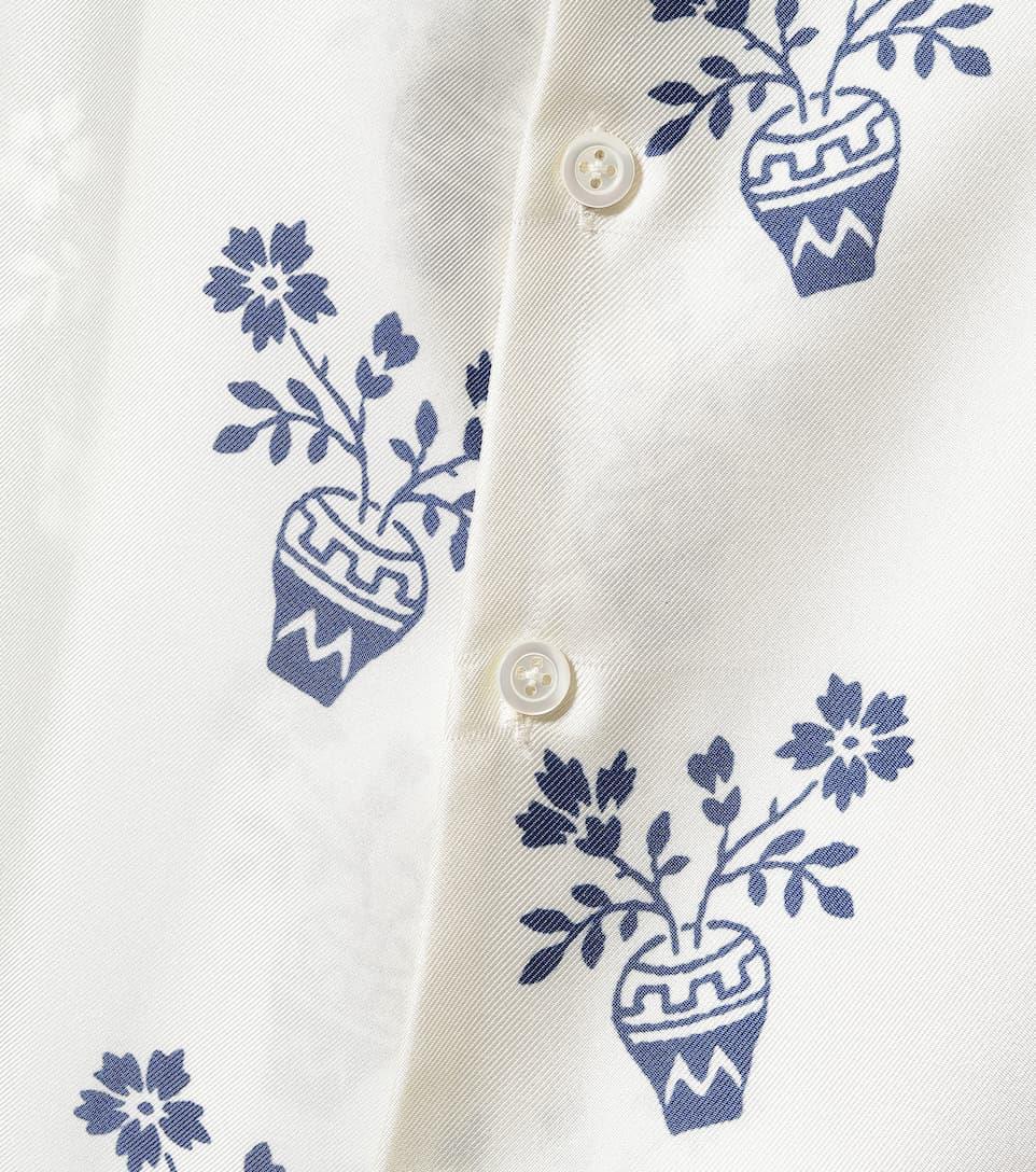 Monse - Printed silk-twill shirt