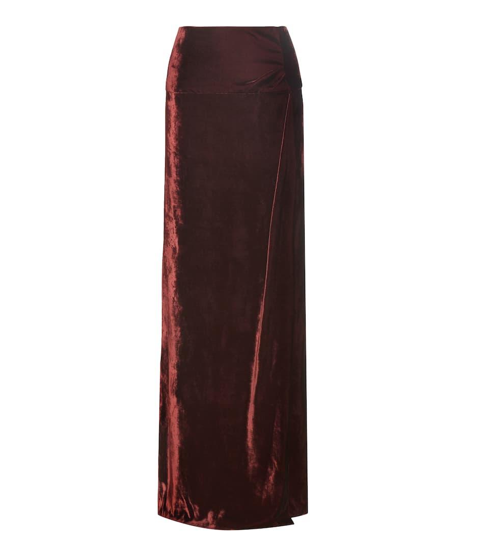 dries noten velvet maxi skirt mytheresa