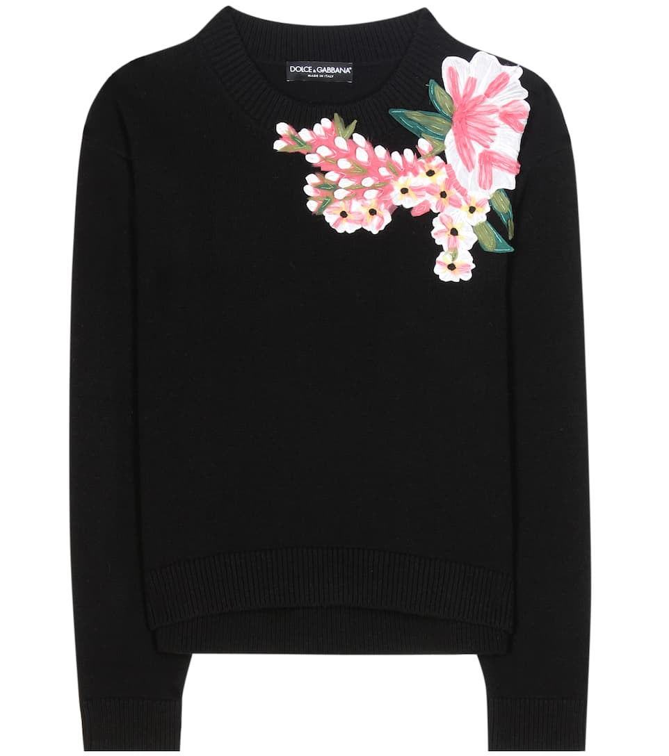 Dolce & Gabbana Appliqué wool and cashmere sweater