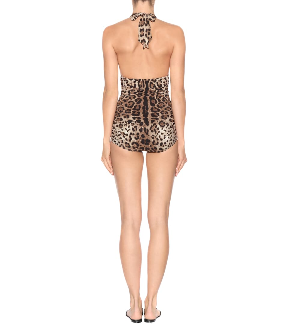 Dolce & Gabbana Badeanzug mit Leoparden-Print