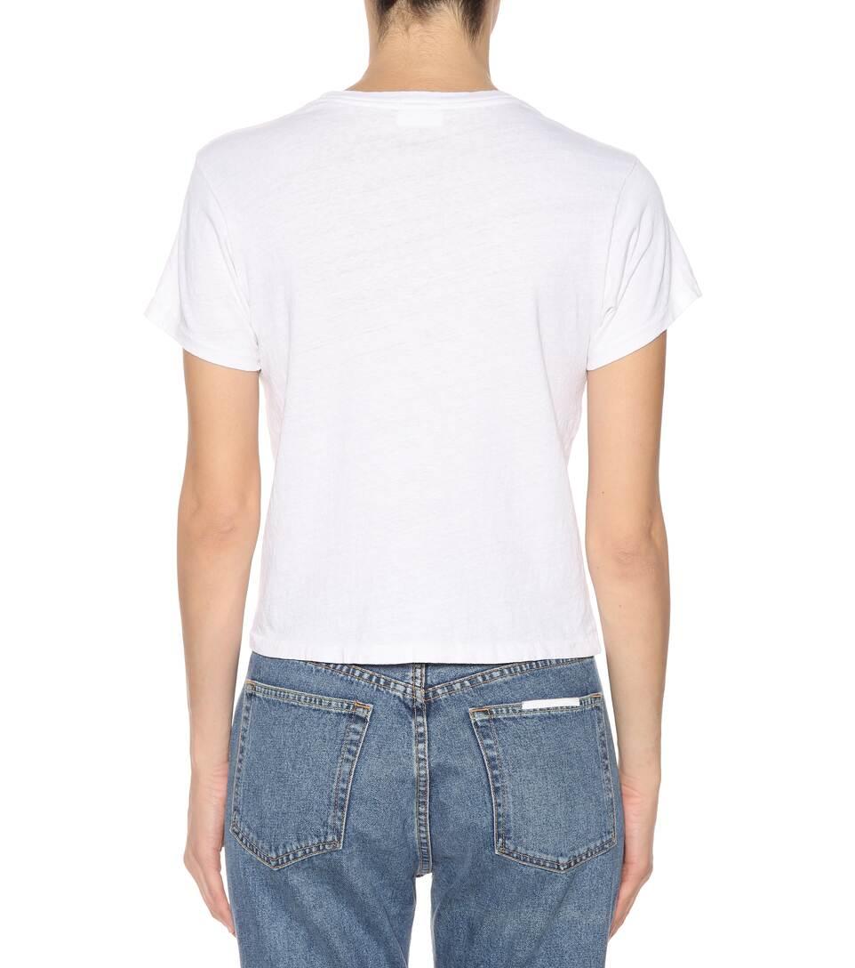 Re/Done T-Shirt The Classic aus Baumwolle Freies Verschiffen Reale Frei Versandkosten Authentisch Spielraum Mit Paypal YOtcchUH