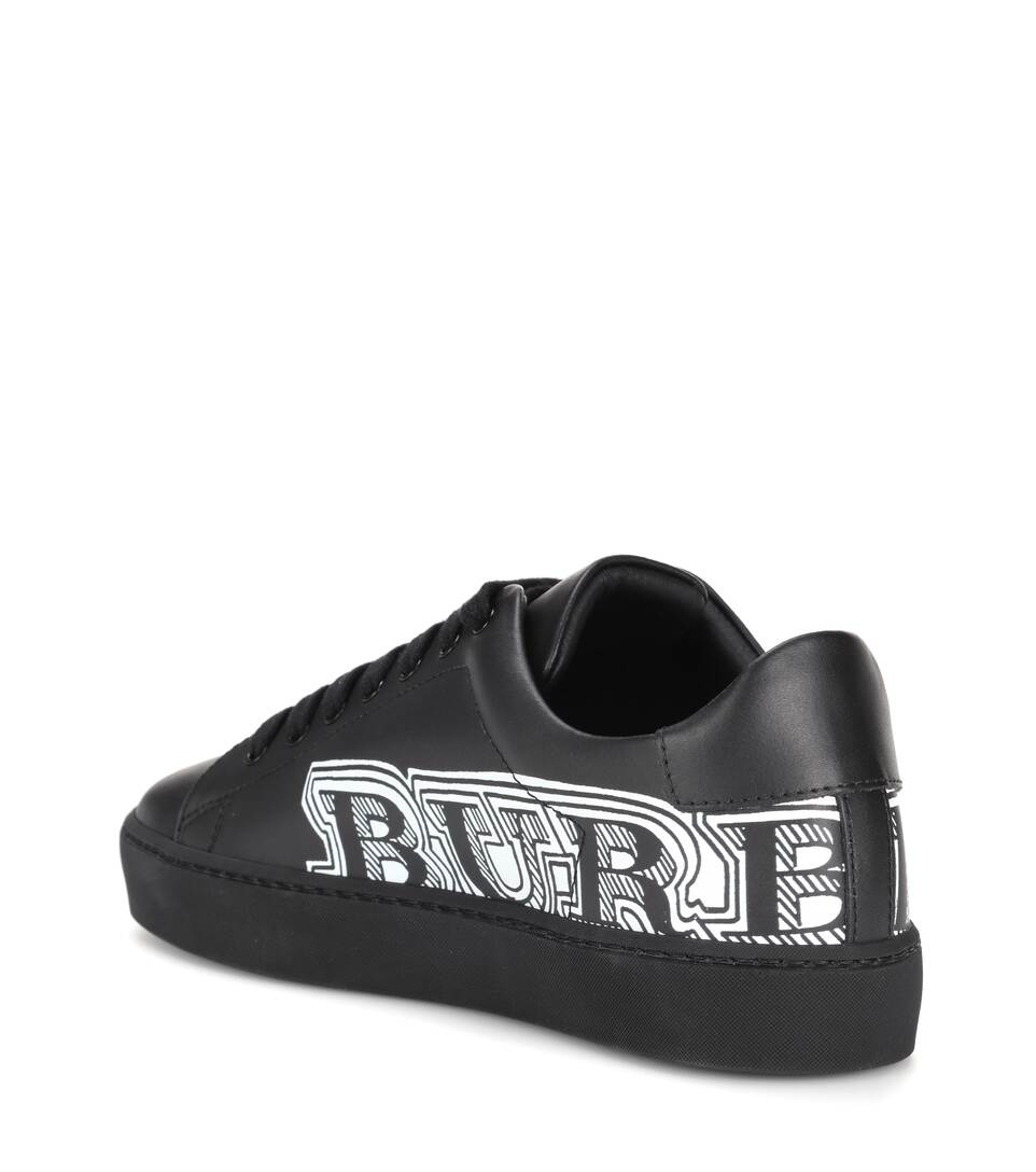 Burberry Sneakers Leather With Logo-print From