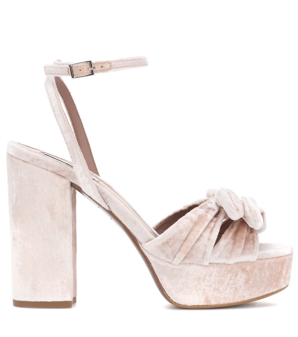 outlet with credit card Tabitha Simmons Jodie velvet sandals best place to buy JIY4T0