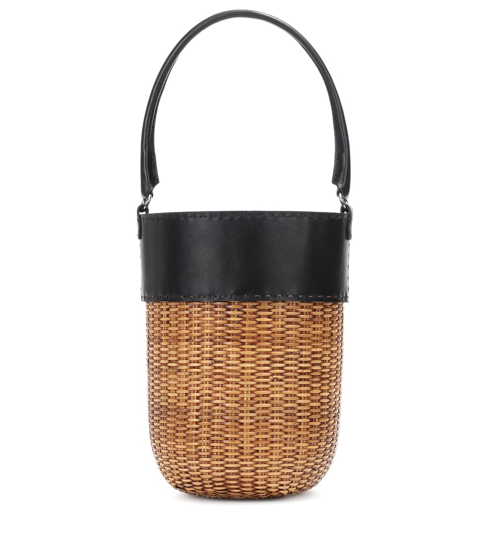 Bucket Lucie – Trimmed Exclusive Kayu To Leather Bag SqXEFxwp7n