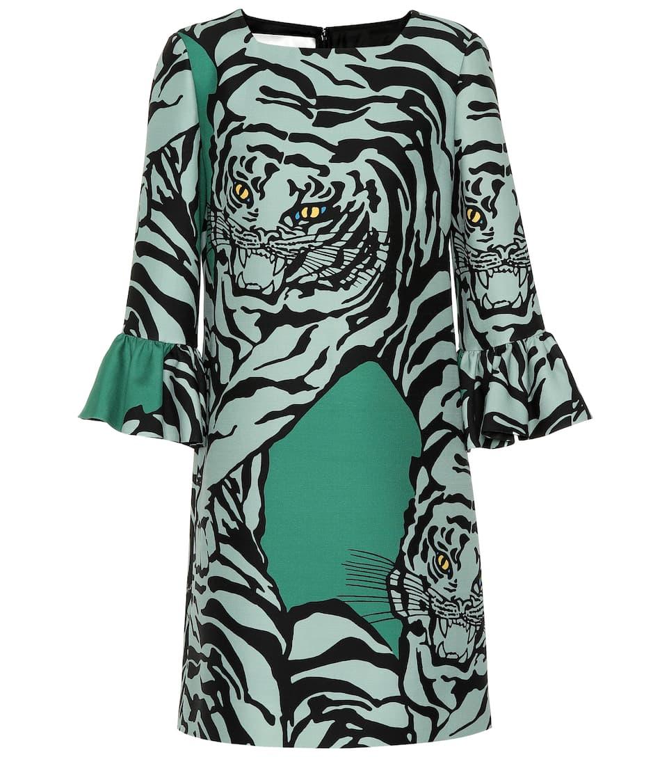 7c82b168e316 Valentino - Re-Edition wool and silk printed dress